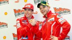 Nicky Hayden and Valentino Rossi at the Ducati Press Meeting - Wrooom