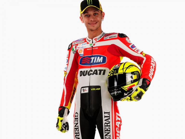Valentino Rossi in his 2011 Ducati leathers