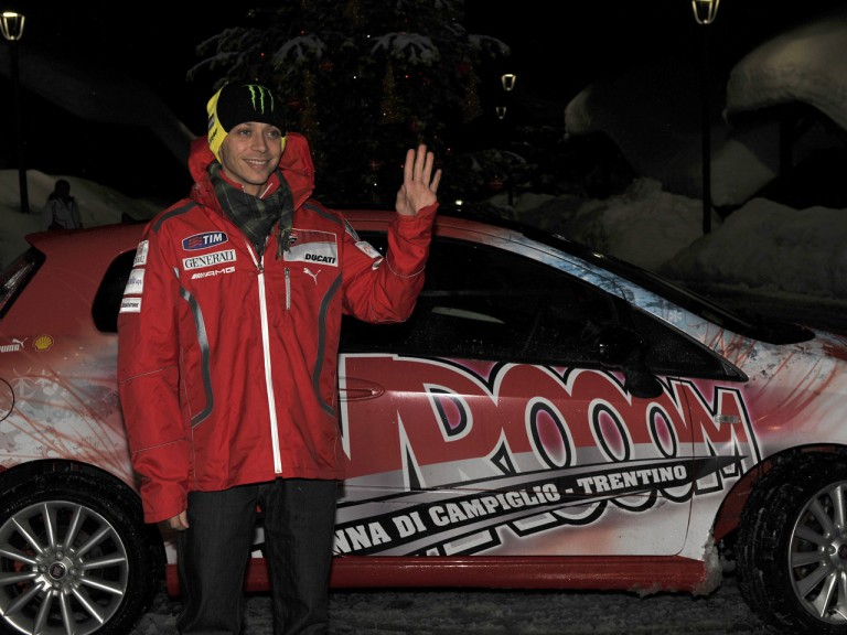 Valentino Rossi arrives at Madonna di Campiglio