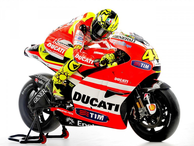 Valentino Rossi on the Desmosedici GP11