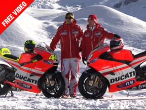 Valentino Rossi and Nicky Hayden unveil the 2011 Ducati Desmosedici MotoGP bike