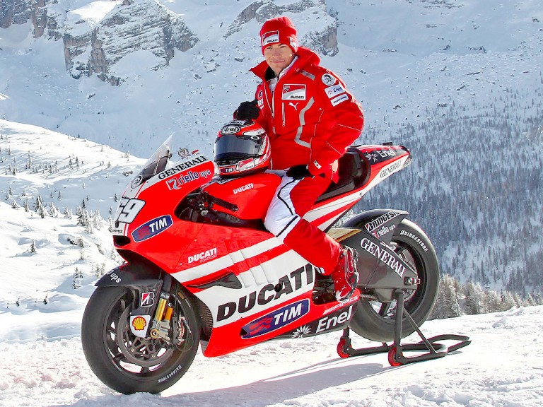 Nicky Hayden on the Desmosedici GP11