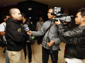 Lorenzo attends the media in Indonesia
