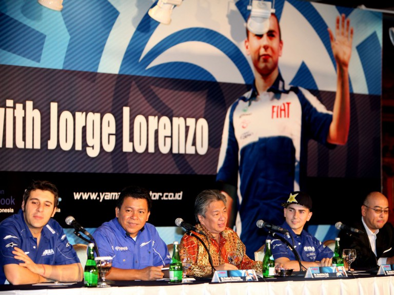 Lorenzo attends Yamaha Motor Kencana Indonesia Press Conference in Jakarta