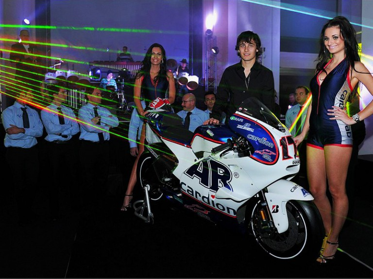 Karel Abraham at the Cardion AB Motoracing presentation.  Photo by Antonin Kratochvil