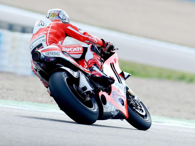 Vittoriano Guareschi testing Desmosedici GP11 at Jerez