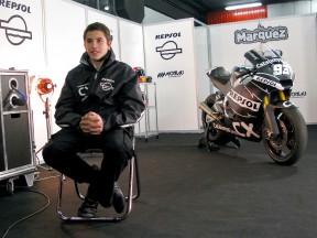 Marc Márquez reviews his new Moto2