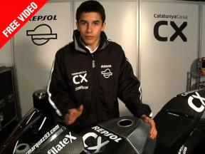 Marc Márquez reviews his new Moto2 in detail