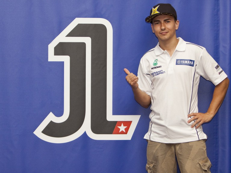 Reigning World Champion Jorge Lorenzo unveils his #1 plate number design