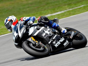 Ben Spies in action at the Sepang test
