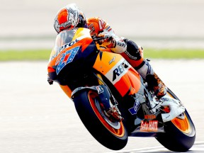 Casey Stoner in action at the Sepang test
