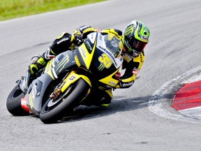 Cal Crutchlow in action at the Sepang test