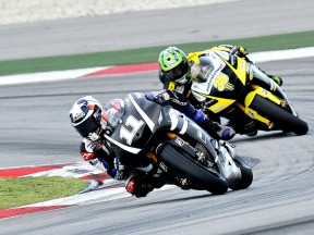 Spies riding ahead of Crutchlow at the Sepang test