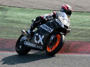 Marc Marquez testing at the Catalunya circuit
