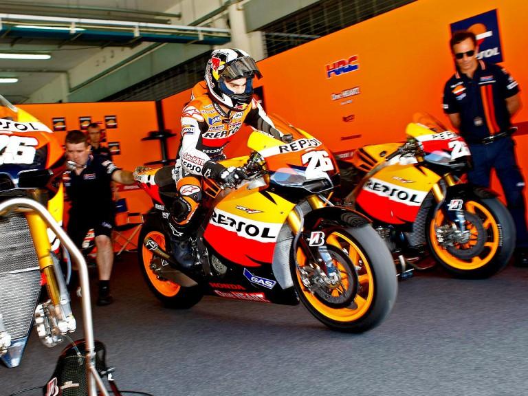 Dani Pedrosa set to leave the Repsol Honda garage at the Sepang test