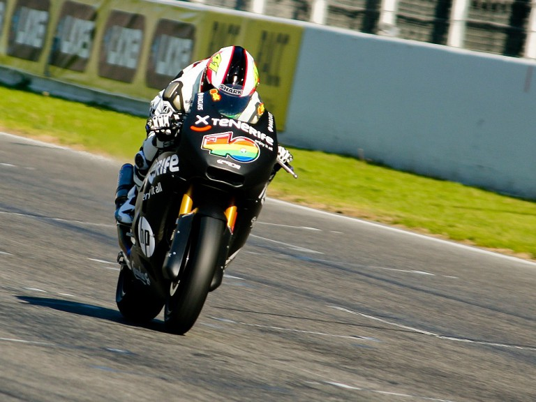 Aleix Espargaró in action at the Montmeló test
