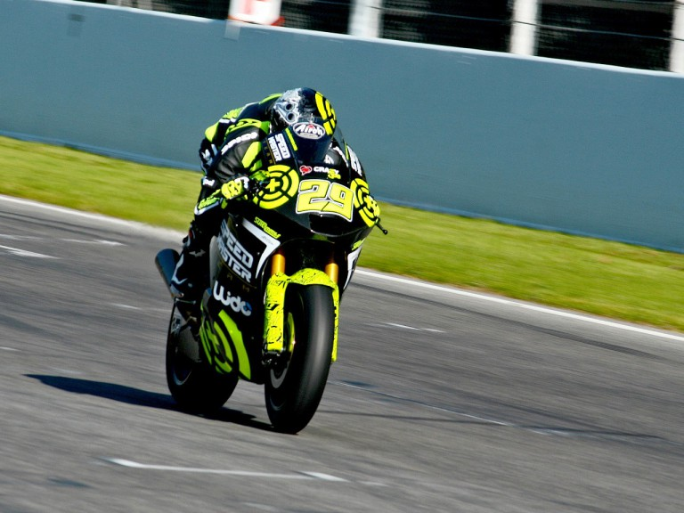 Andrea Iannone in action at the Montmeló test