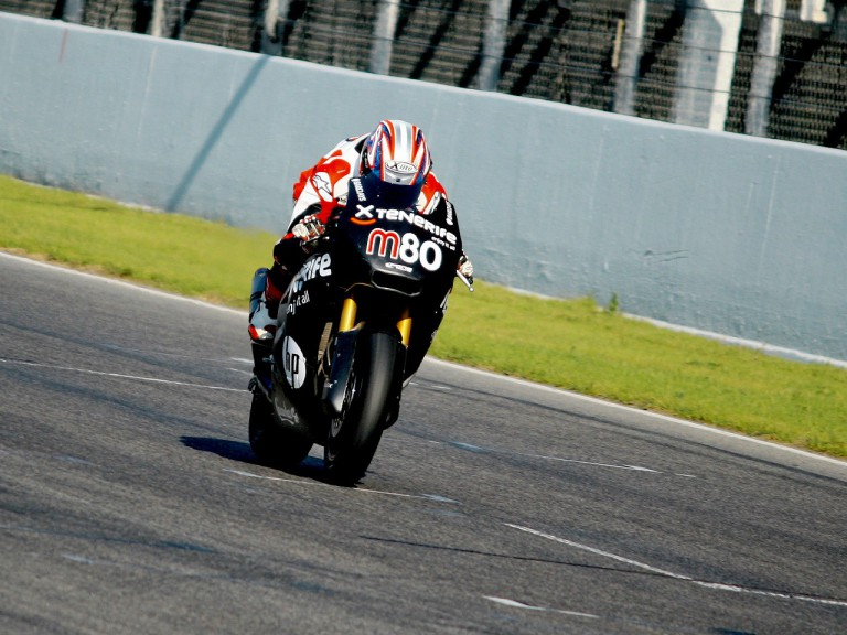 Axel Pons in action at the Montmeló test