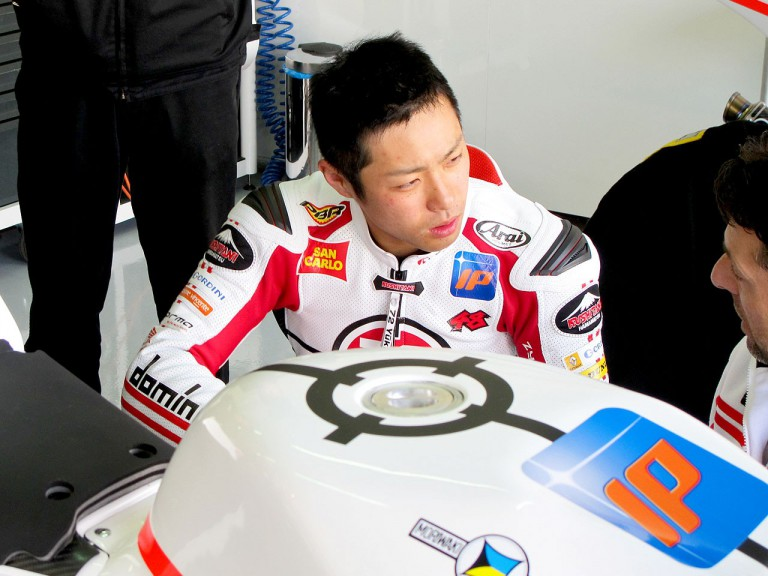Yuki Takahashi in the Gresini Racing garage