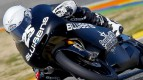 Maverick Viñales in action at the Valencia test