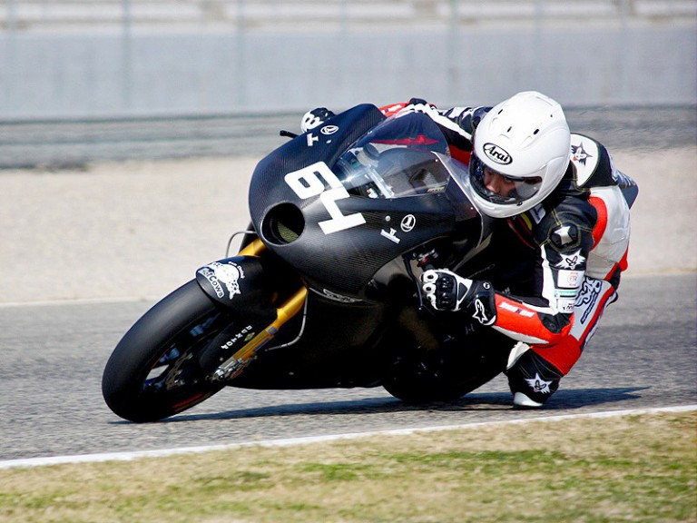 Santi Hernandez in action at the Valencia test