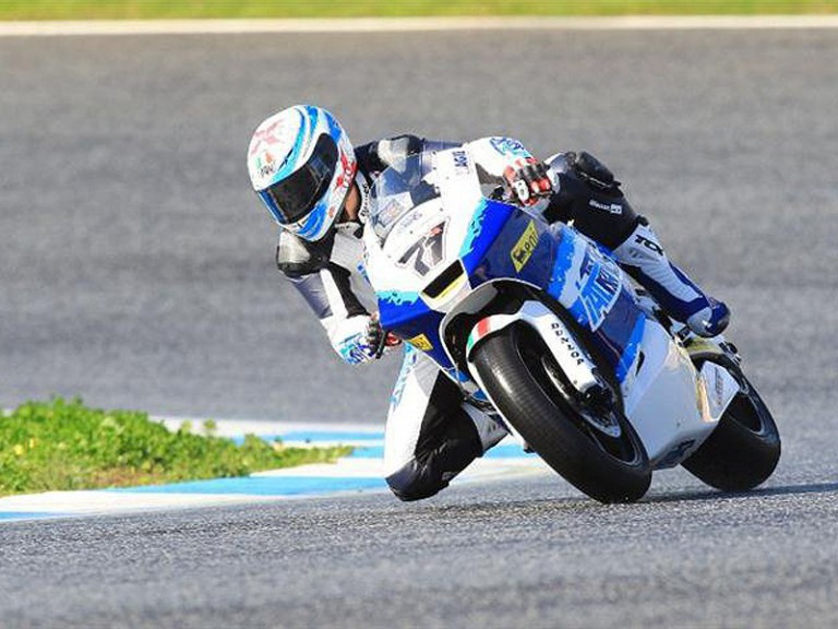 Claudio Corti in action at Estoril test