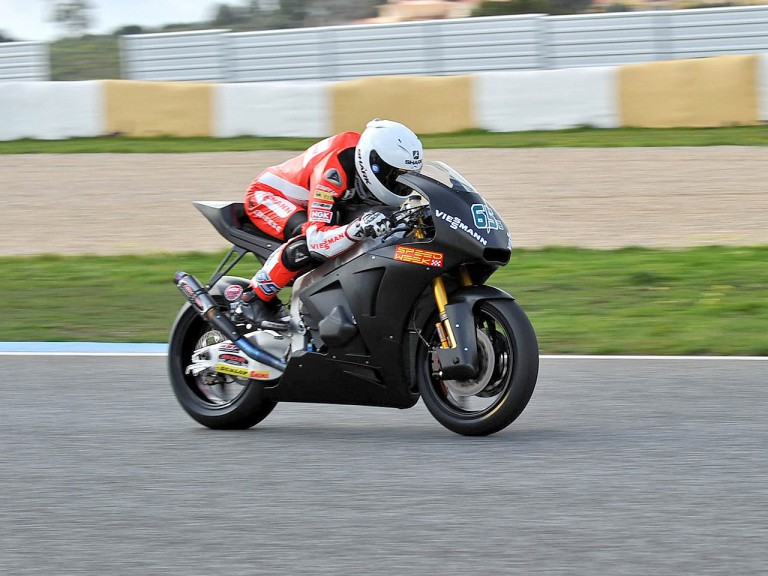 Stefan Bradl in action in Estoril test