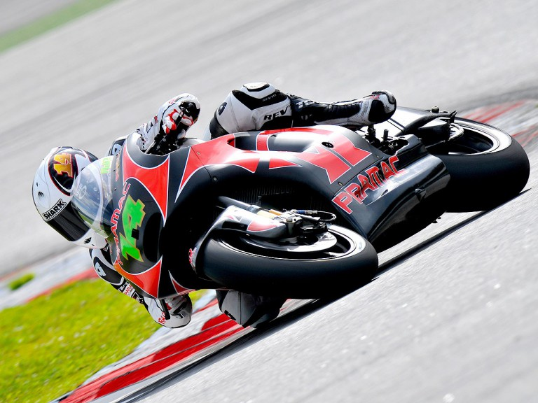 Randy de Puniet in action in Sepang test