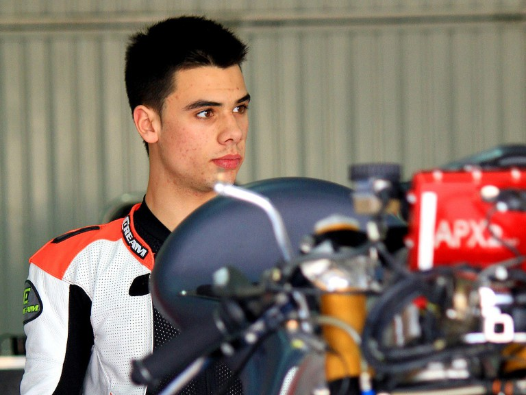Miguel Oliveira in the Andalucía Cajasol garage