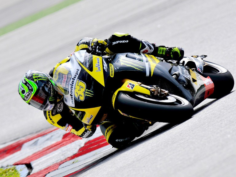 Cal Crutchlow in action in Sepang test