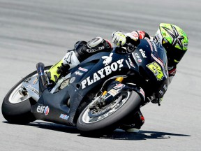 Toni Elías in action at the Sepang test