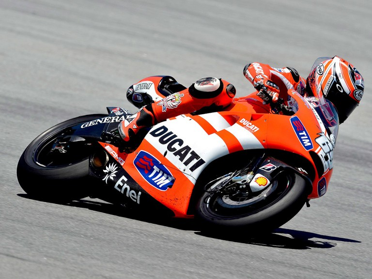 Nicky Hayden in action in the Sepang test