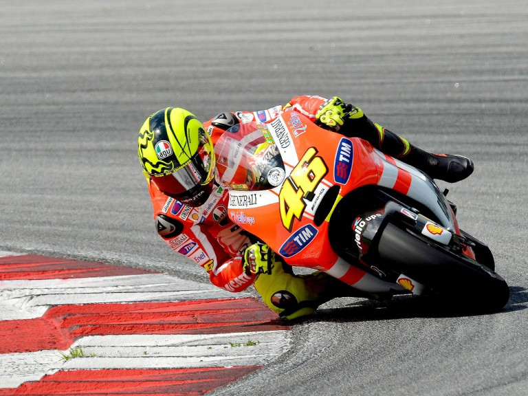 Valentino Rossi in action at the Sepang test