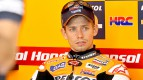 Casey Stoner in the Repsol Honda garage at the Sepang test