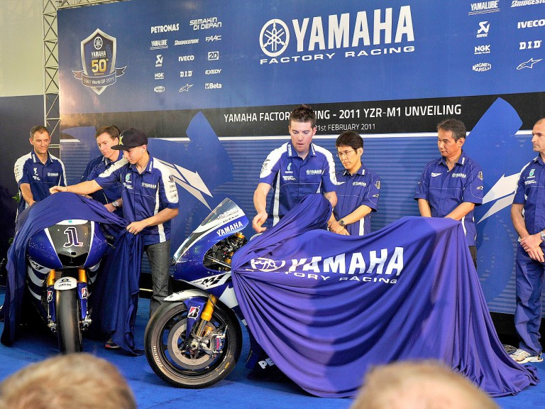 Yamaha Factory 2011 bike unveiling