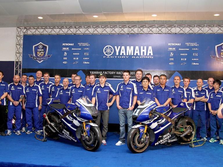 Yamaha Factory 2011 bike unveiling