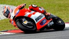 Nicky Hayden in action in Sepang test