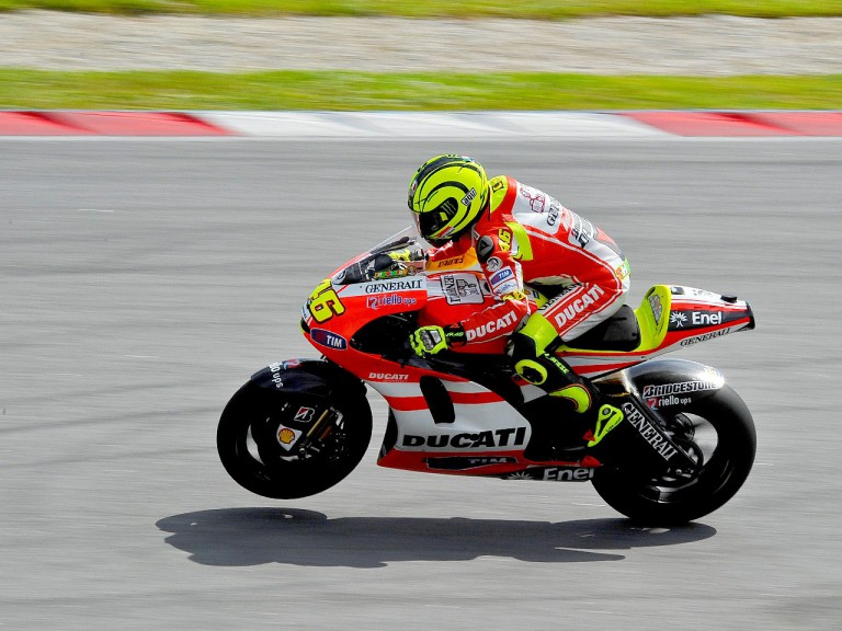 Valentino Rossi in action in Sepang test