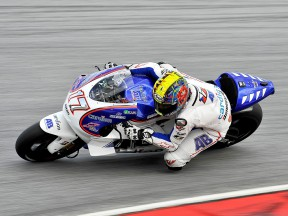Karel Abraham in action at Sepang test
