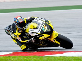 Colin Edwards in action in Sepang test