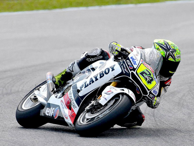 Toni Elías in action in Sepang test