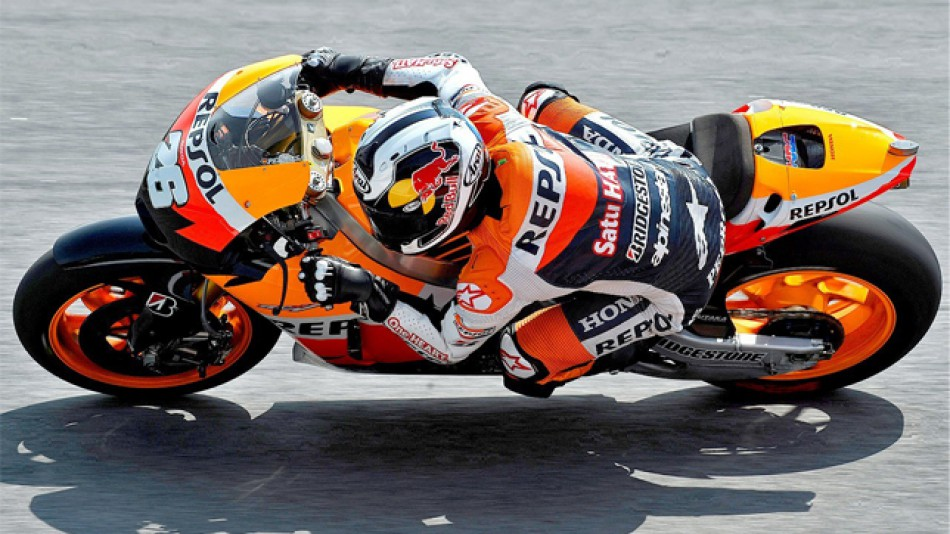 Dani Pedrosa in actoin in Sepang test
