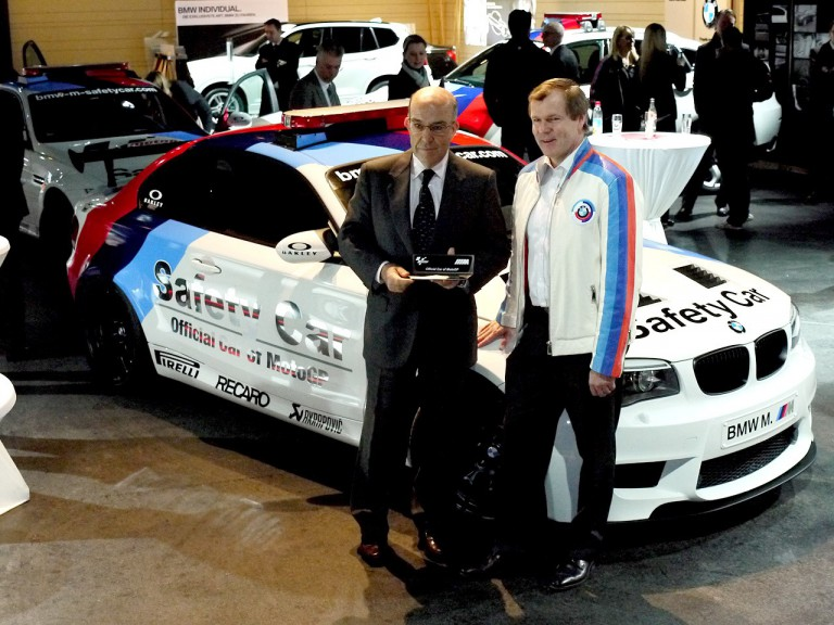 Dorna CEO Carmelo Ezpeleta and BMW M's Dr. Kay Segler