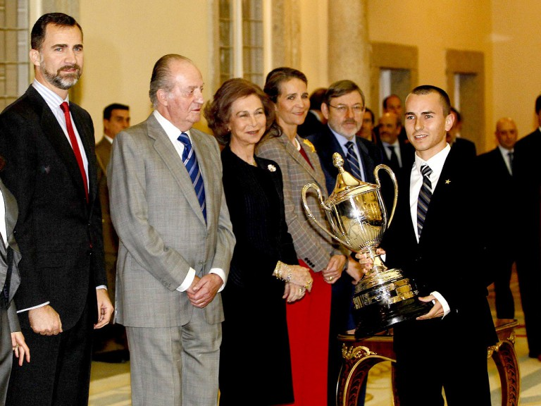 Jorge Lorenzo receives his National Sport Prize