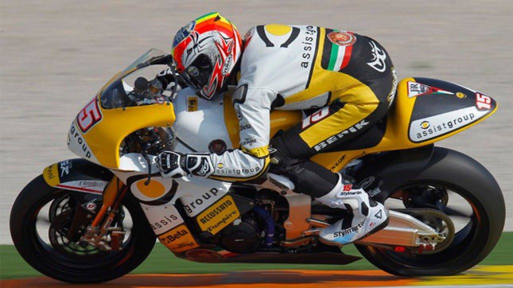 Alex De Angelis in action at the Valencia test