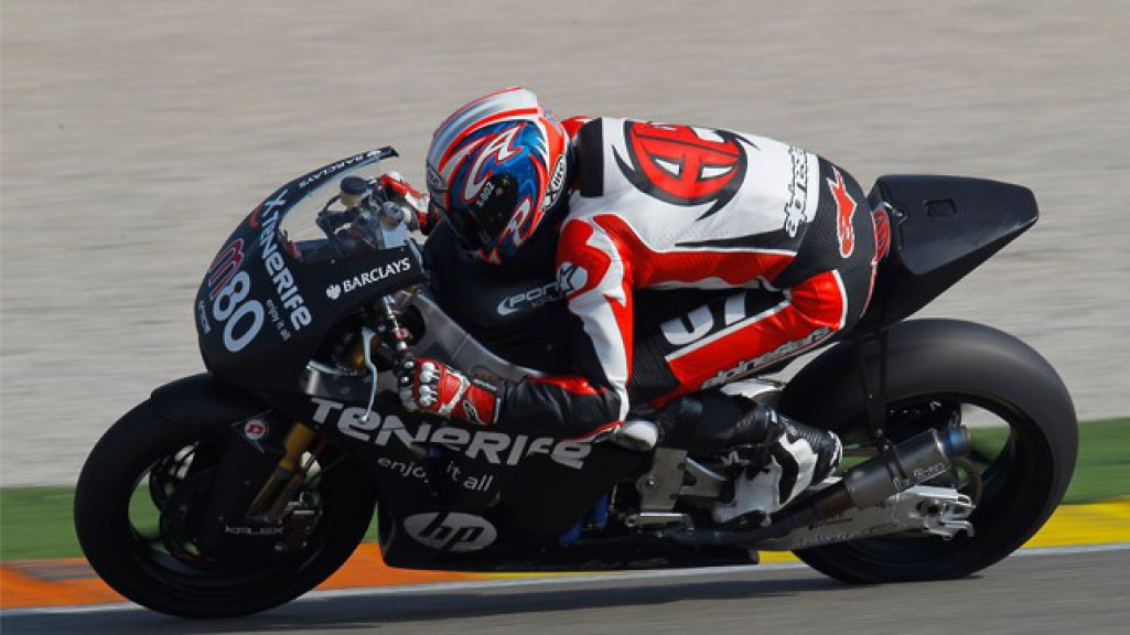 Axel Pons in action at the Valencia test