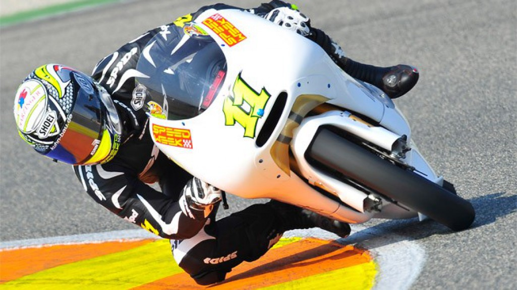 Sandro Cortese in action at the Valencia test