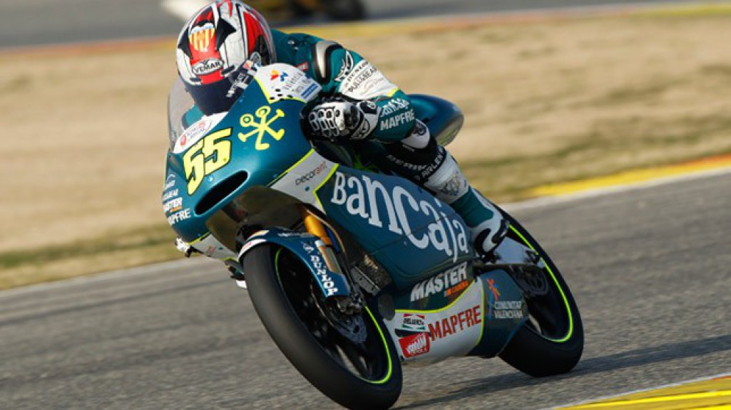 Hector Faubel in action at the Valencia test