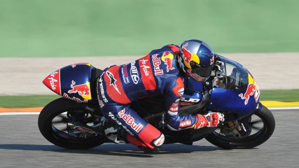 Jonas Folger in action at the Valencia test