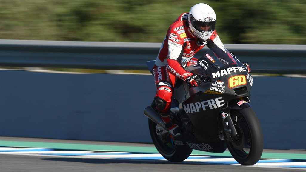Julian simon in action at the Jerez test